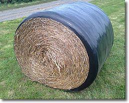 Round Bale Weatherproofing Wrapper: Wrapide CW-01 from Front